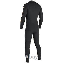 VISSLA Men's 4/3 SEVEN SEAS TRIPPER CZ Wetsuit BLK Size Large NWT