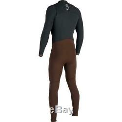 VISSLA Mens 7 Seas 3/2 Full 50/50 Chest Zip Wetsuit Dark Brown
