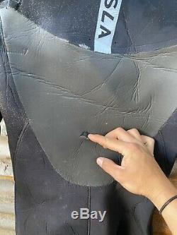 VISSLA wetsuit 5/4 hooded chest zip mens full winter suit L LARGE