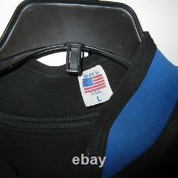 Vintage Barefoot International Mike Seipel Iron Padded Wetsuit Size Large