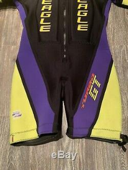 Vintage Eagle Barefoot Gear Suit Pro Series Padded Wetsuit Mens Size Large