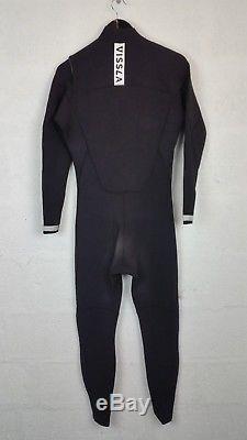 Vissla Return Wetsuit- Seven Seas 3/2mm ChestZip Full Suit Black Men's size L