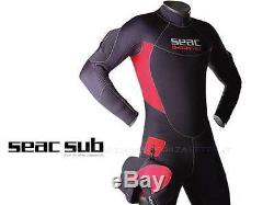 WETSUIT SEMIDRY SEAC SUB S-DRY NEOPRENE 7mm SIZE LARGE DIVE WETSUIT SEMY dry