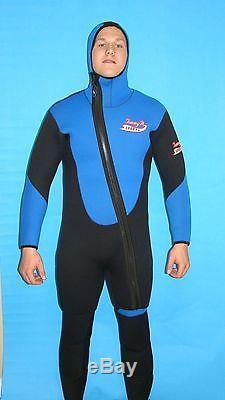 Wetsuit 2 PC Farmer John 7MM Large Scuba Gear 8900