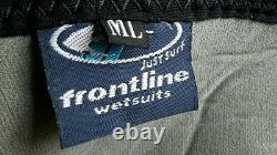 Winter Wetsuit 4/3 ML mens medium large Retro Frontline Westuits Rare Mint