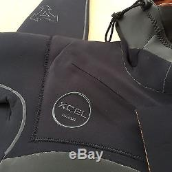 XCEL 4.3 TDC Hooded DRYLOCK Fullsuit Wetsuit NWT