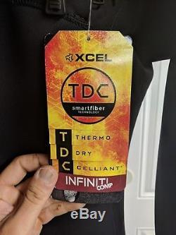XCEL Men's 2.0mm INFINITI COMP X2 TDC CZ Wetsuit BLK Large NWT