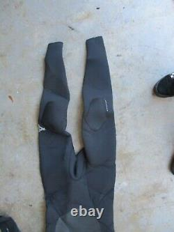 Xcel 5/4 Infinity X2 Mens Full Hooded Wetsuit Sz Large Chest Zip Boots & Gloves