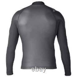 Xcel Axis 2mm Shark Skin L/S Zip Up Wetsuit Top Black Xcel Mens Wetsuit Top/J