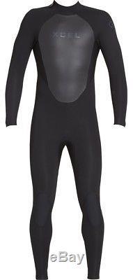 Xcel Axis Fullsuit 4/3mm Back Zip Wetsuit Men's X-Large, Black