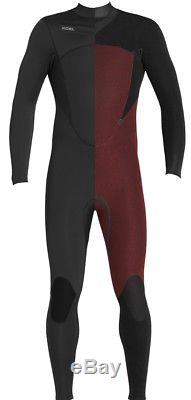 Xcel Comp Fullsuit 4/3mm Chest Zip Wetsuit Men's Large, Black