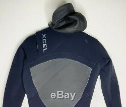 Xcel Mens Full Wetsuit Size LT Large Tall Hooded Drylock 4/3 Worn Once