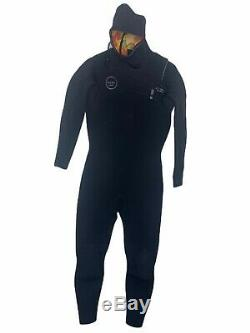 Xcel Mens Full Wetsuit Size Large Hooded Comp X 4.5/3.5 Excellent Condition