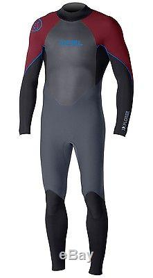 Xcel Xplorer Fullsuit 3/2 Wetsuit Men's Large, Graphite/Black/Merlot