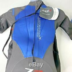 Zone 3 Wetsuit Vision Mens Large Medium/Large Tri Triathlon Wetsuit Black Blue