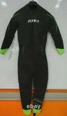 Zone3 Mens Azure Wetsuit MEDIUM-LARGE Black/Neon Green (nicks right arm)